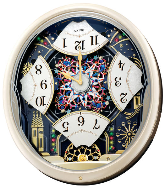 ... Clocks > Seiko Clock - Melodies In Motion: Kaleidoscope Musical Wall