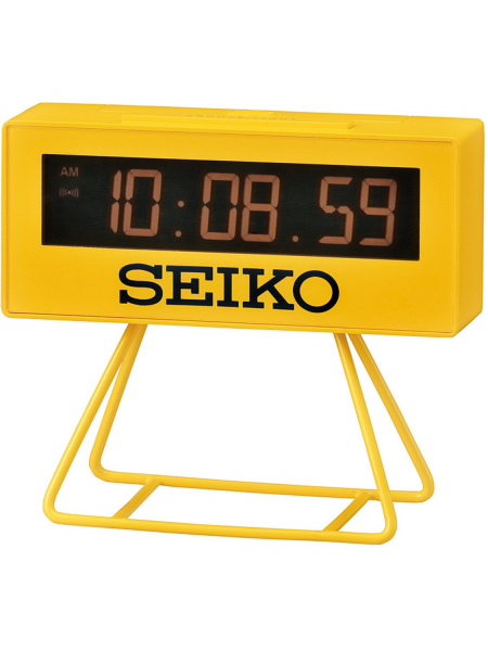 ... Clocks Seiko Table & Alarm Clocks QHL062Y Digital Alarm Clock Yellow