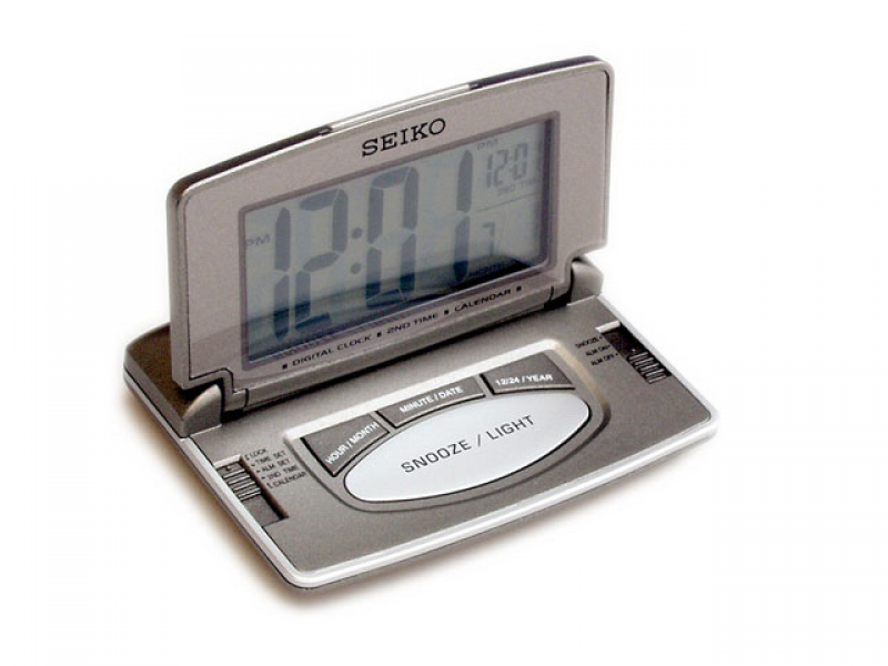 ... HINDS - Clocks - Alarm Clocks - Seiko Folding LCD Desk Clock - 030388