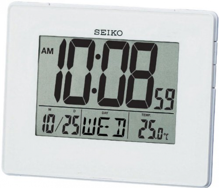 about Seiko Battery Powered Digital LCD Alarm Calendar Desk Wall Clock ...