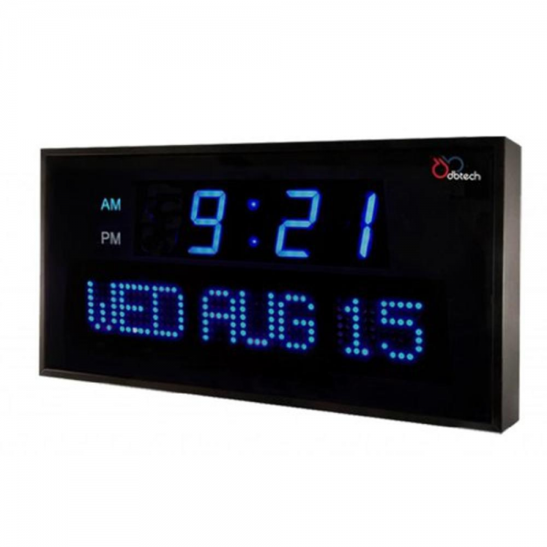 Digital LED Wall Clock Large Big Shelf Modern Day Date Time Calendar ...