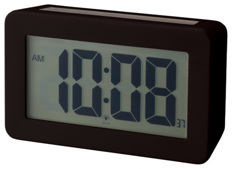 Solar Power Digital Clock, Black - Contemporary - Clocks - by neo ...
