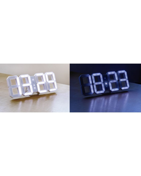 WHITE & WHITE DIGITAL LED CLOCK BY DESIGNER VADIM KIBARDIN - Designer ...