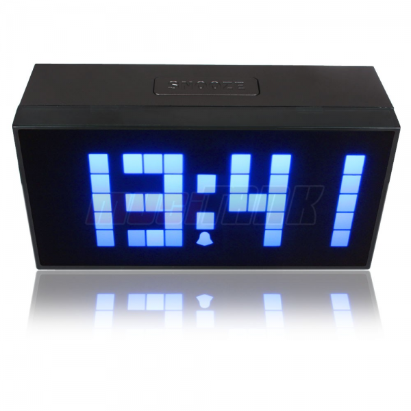 Details about Digital Large Big Jumbo LED Alarm Clock snooze wall/desk ...