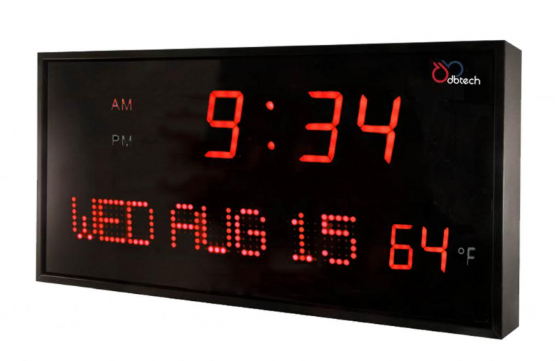 Dbtech Big Digital LED Calendar Clock with Day Date Amp Temperature ...