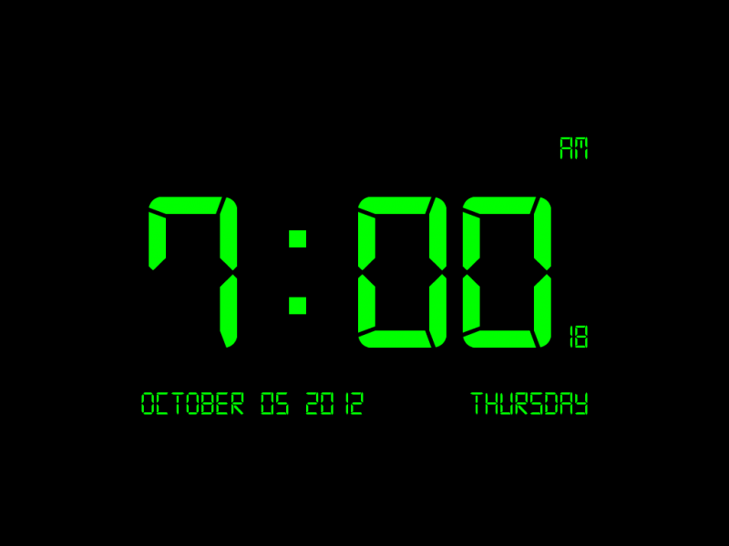 Digital Clock-7 is screen saver that displays the current time. As ...