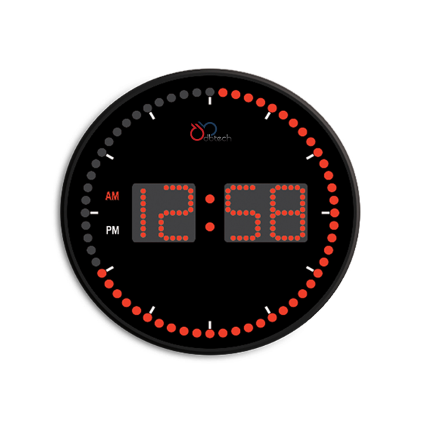 Details about DBTech Stylish Big & Large Digital LED Clock w Circling ...