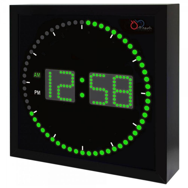 DBTech Stylish Big & Large Digital LED Clock (Green LED - 10 Square)
