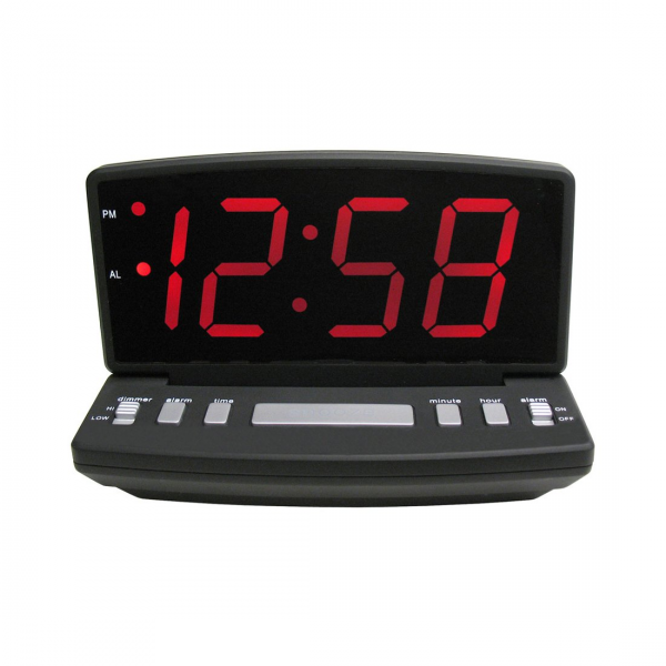 ... Clocks > Modern Wall Clocks > Geneva Clocks 4584E Electric LED Alarm