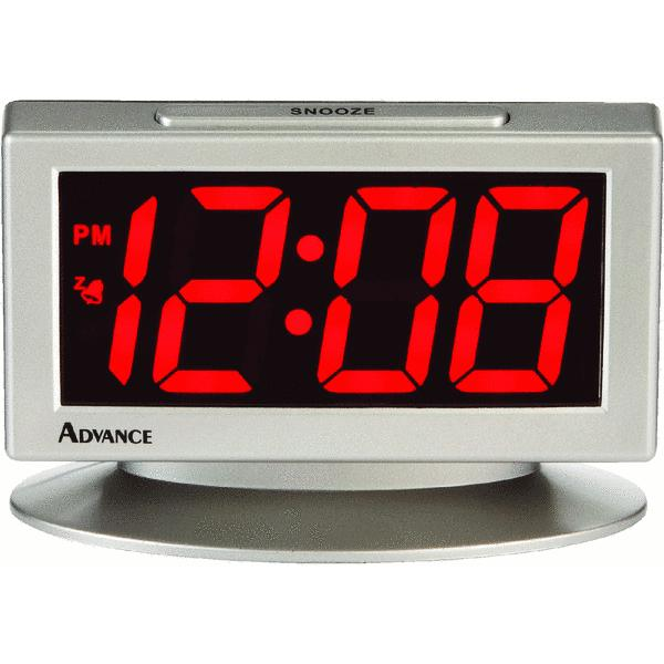 Geneva Clock Company 3112AT Red Led Electric Alarm Clock Red at ...