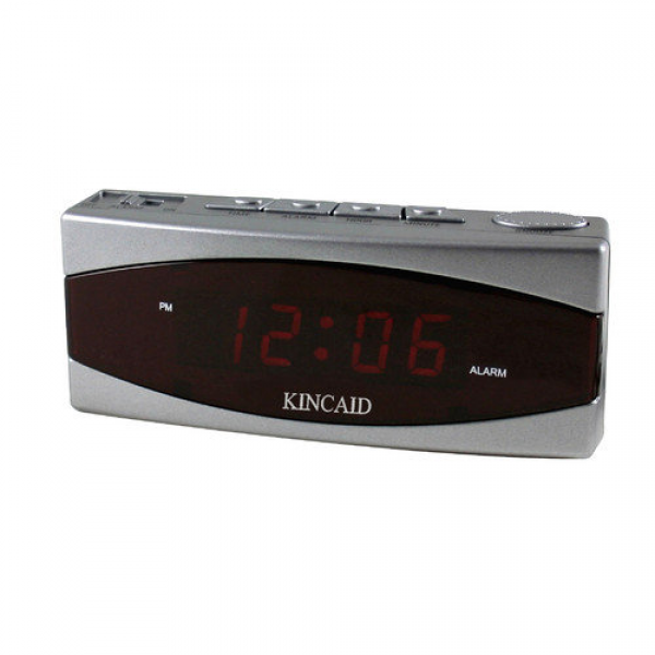 Kincaid Clocks Two Piece Electric LED Display Table Clock with Snooze ...