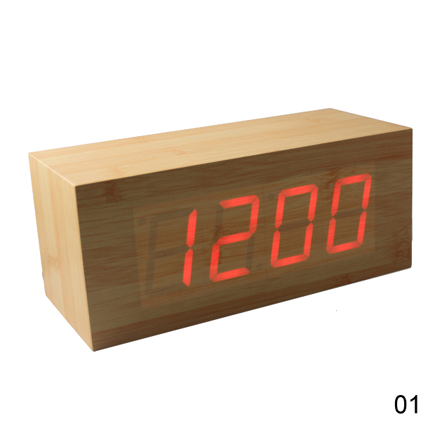 ProductWiki: Wood Alarm Clock LED Digital - Clocks