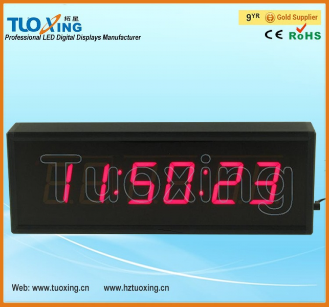 inch 6 digits LED free desktop digital clock
