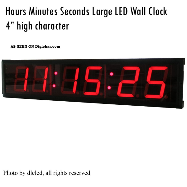 Inch Led Wall Clock 6 Digits Countdown/up Clock Led Timer Hh:mm:ss ...