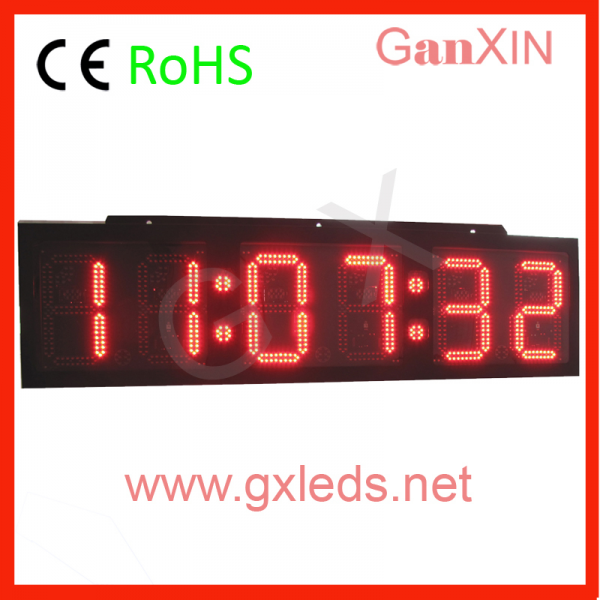 inch 6 digits large outdoor timer waterproof led timer led clock ...