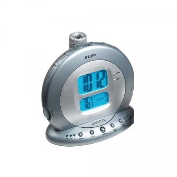 HoMedics Sound Spa Projection Clock Radio with Atomic