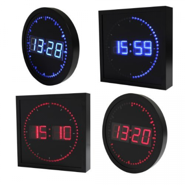 Metro Fulfillment House Big Digital LED Clock 24 Hour Format -Military ...
