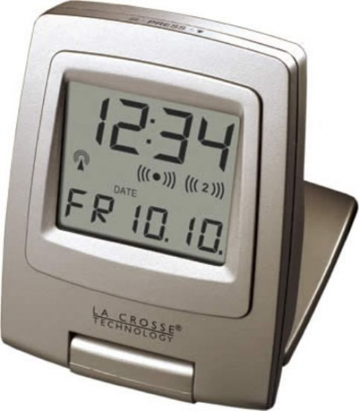 La Crosse Technology WT-2165U Digital Travel Alarm Clock, Atomic Time ...