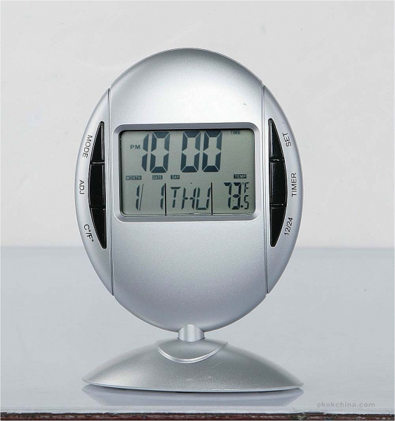 Digital Clock With Backlight And Temperature Display Wallpaper Picture