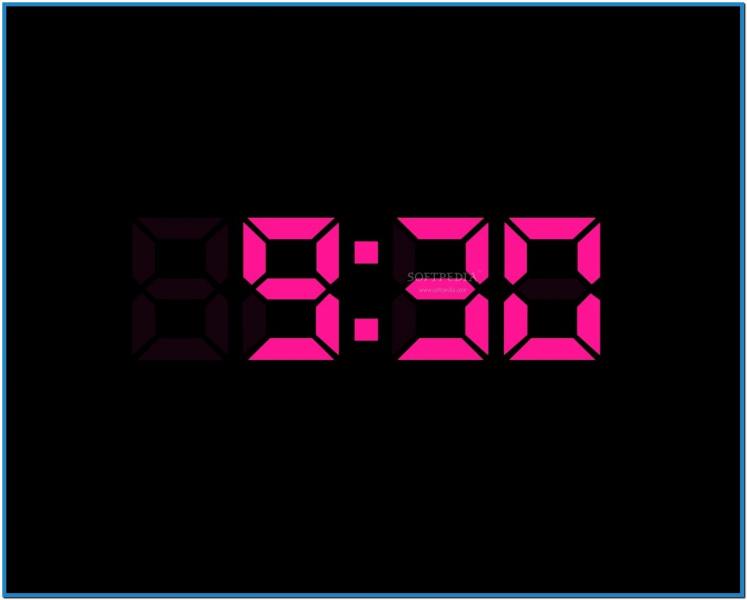 Digital clock screensaver for desktop - Download free