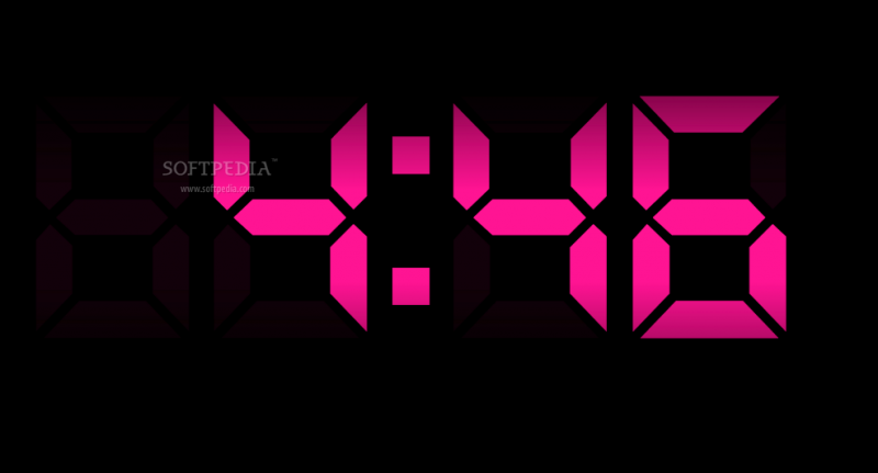 Digital Clock Screensaver screenshot 1 - Digital Clock Screensaver is ...