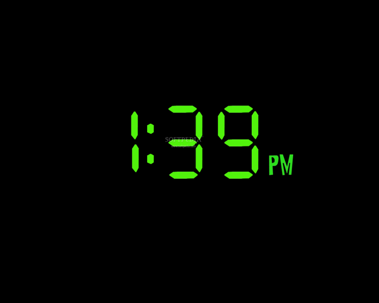 ... is how Special Digital Clock will display the time on your desktop