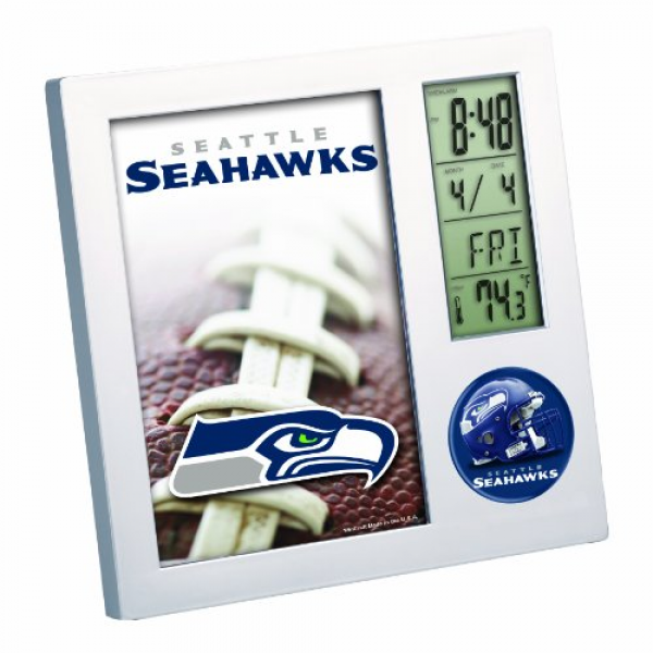 NFL Seattle Seahawks Digital Desk Clock - 12th Gear Seahawks Shop