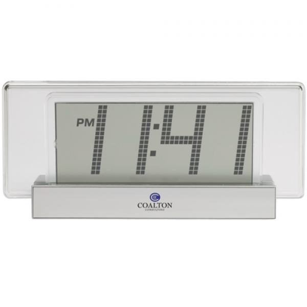 ... Products » Clocks & Watches » Jumbo Digital Logo Desk Clock
