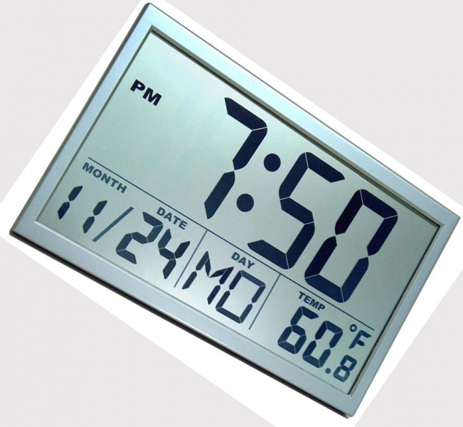 Large digital wall clock: