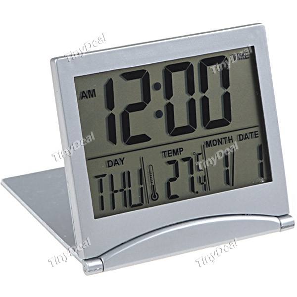 Digital Desk Clock with Calendar & Alarm & Day & Temperature W3-MT033 ...