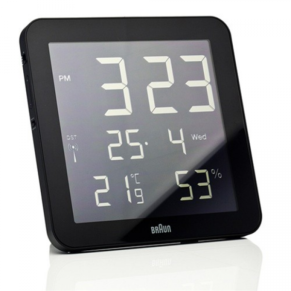 ... Clocks / Braun BNC014 Global Radio-controlled Digital Wall/Desk Clock
