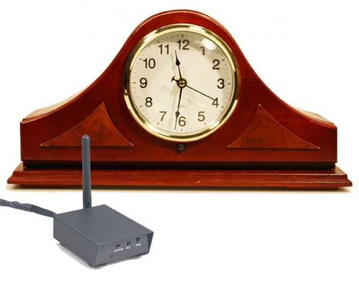 ... Digital Wireless Spy Camera Hidden Inside A Mantle Clock Includes RCA