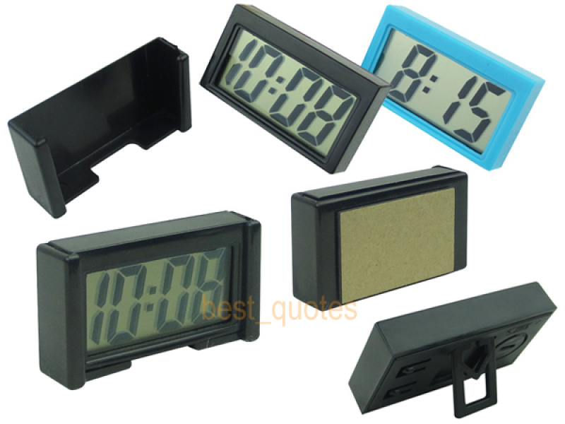 Small LCD Digital Clock Date Detachable Casing Mount Free Shipping-in ...