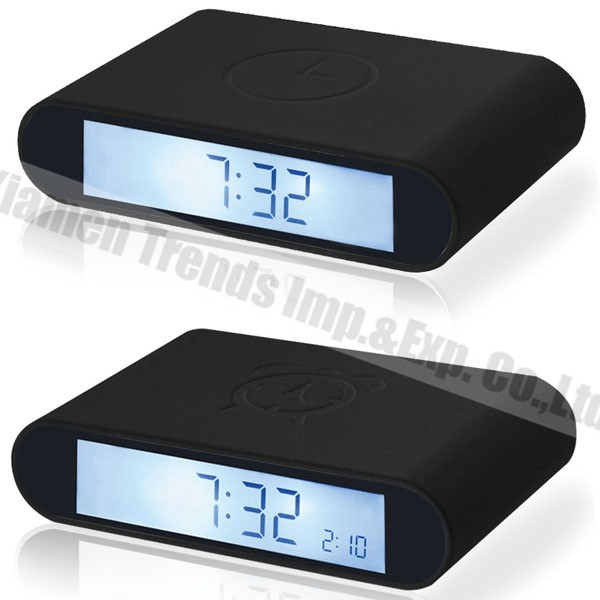 flip small digital bedside desk clock, import digital desk clock