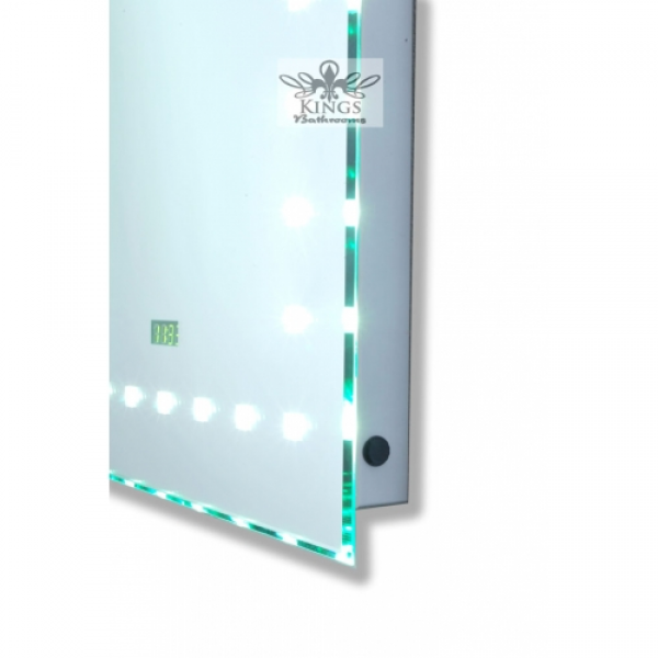 ... Bathroom Mirrors » Luminoso LED Sensor Mirror 50 x 70cm & Digital