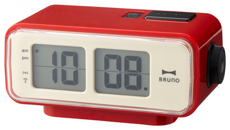 Retro Digital Flip Clock, Red - Contemporary - Clocks - by neo-utility