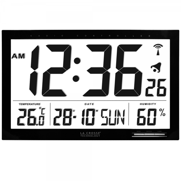You are here: Home > La Crosse Xl Radio Controlled Wall Clock 36.8cm