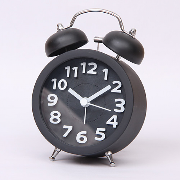 Stereoscopic Digital Clock Retro Twin Bell Alarm Clocks Desktop Clock ...