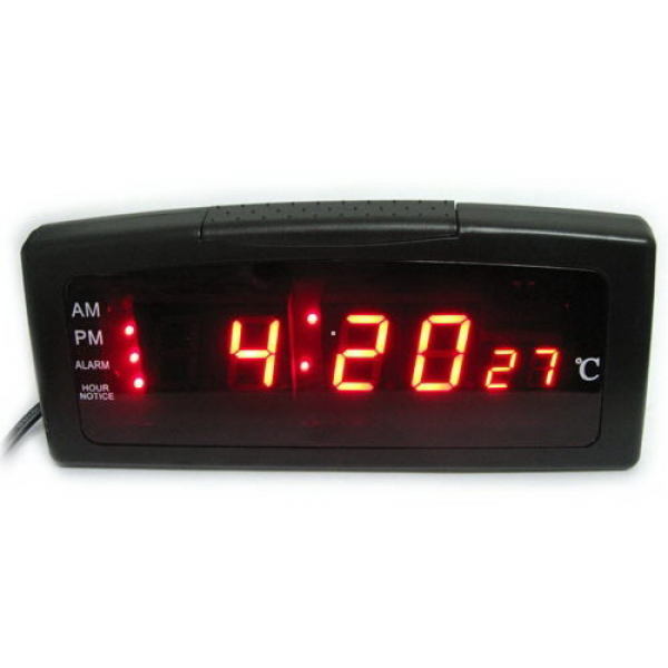 Wholesale Digital Desktop Bedside Alarm Clock Thermometer - LED