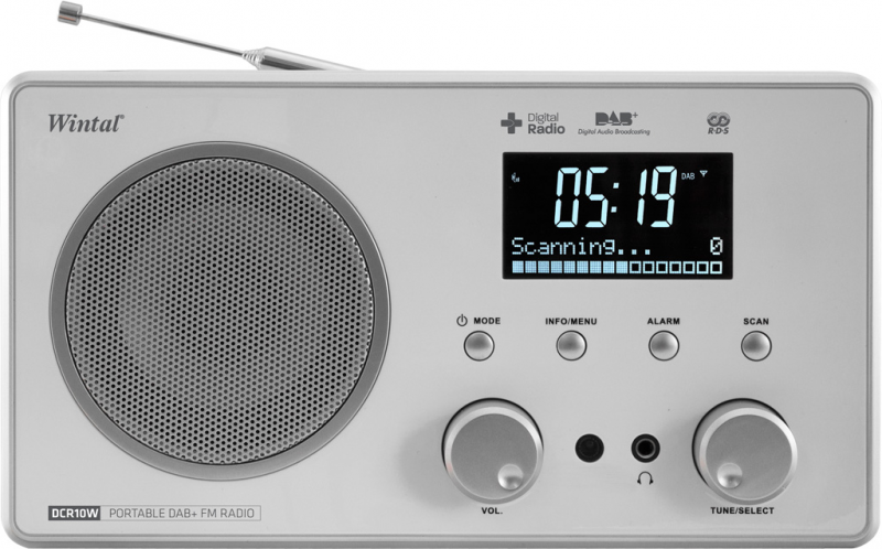 DCR10W – TABLE TOP DIGITAL DAB+ CLOCK RADIO | Wintal