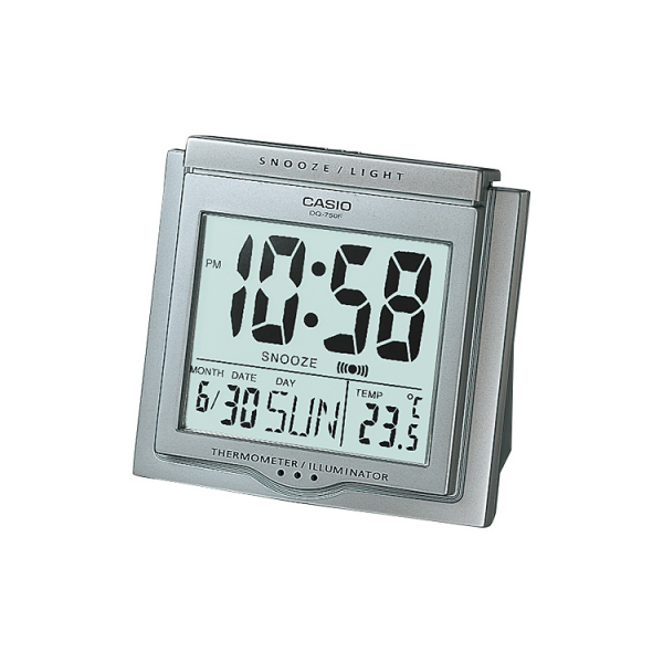 Buy Casio DQ-750F-8DF Digital Table Clock - Silver Online at Best ...