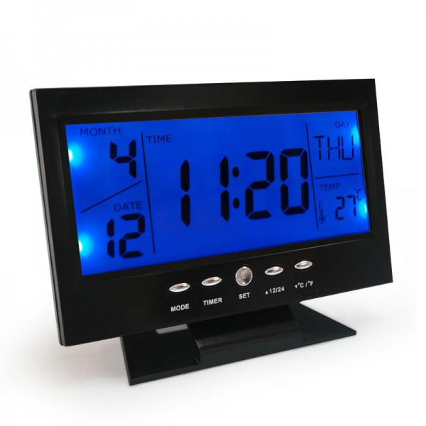 LED large display digital desktop alarm clock with calendar