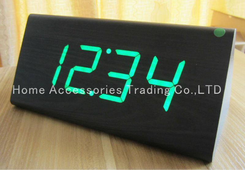 - Dicount Wooden Table Clocks, Wood LED Digital Alarm Desk Clock ...