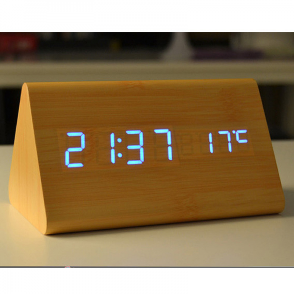 Aliexpress.com : Buy New 2015 LED Wooden Alarm Table Clocks USB ...
