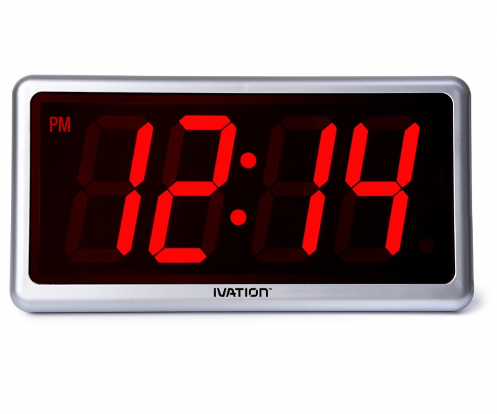 ... -Big-Time-Digital-LED-Clock-Table-or-Wall-Clock-Dimmable-LED-Display