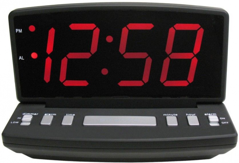 Elgin Electric Large Big 2.5 LED Digital Alarm Clock, Desk or Wall ...