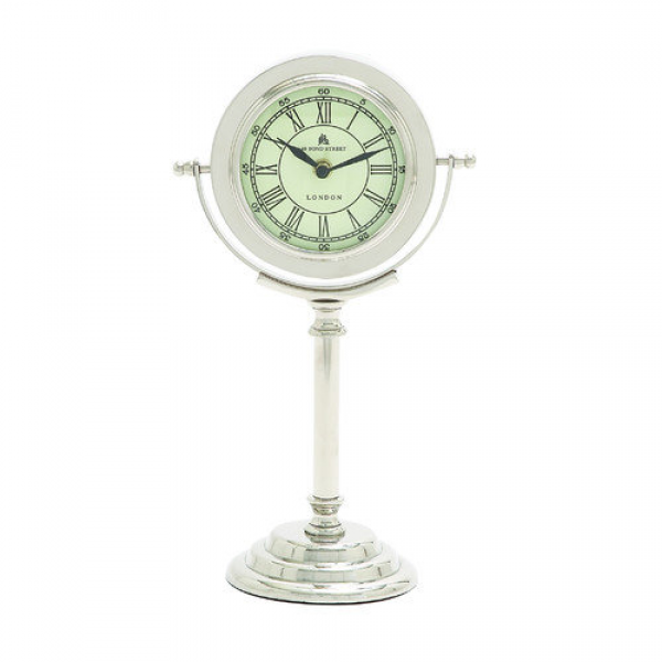Woodland Imports Modern Dali Metal Table Clock - Walmart.com