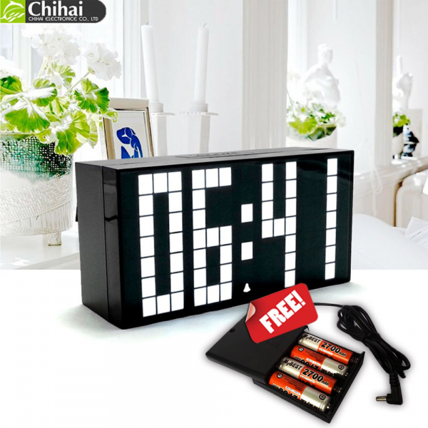 Modern Digital Large Wall Alarm Clock LED Desk Table Clock Time Date ...