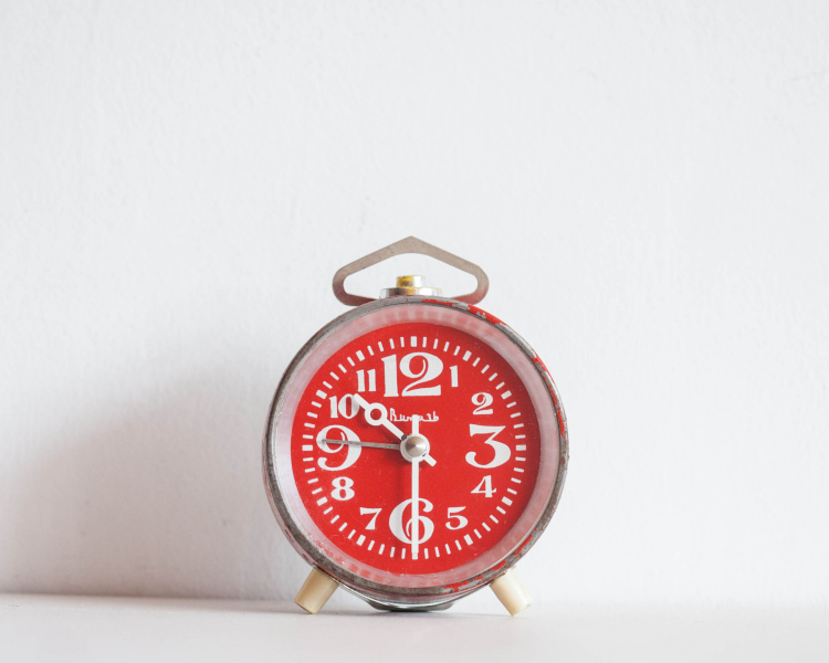 Red Alarm Clock Office Desk Clock Soviet by TheThingsThatWere