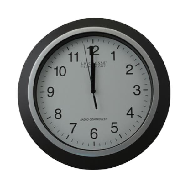 FMP 151-1054 Wall Clock, 10 OD, atomix, white face/black numerals ...